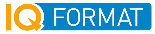 Логотип компании производителя деревянных игрушек - IQ FORMAT