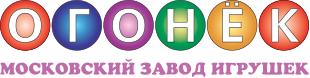 Логотип российского завода производителя масштабных моделей и игрушек Огонёк