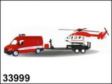 """Набор машинок """"Germany panel van-set"""". Пожарная охрана, 1:34, Autotime"""