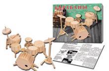 """Сборная деревянная модель """"Барабаны"""", Рыжий кот"""