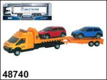 "Машина ""Recovery Truck Long"" эвакуатор с прицепом, 1:48, Autotime"