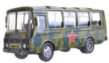 """Машина """"ПАЗ-32053"""" армейский, 1:43, Autotime"""