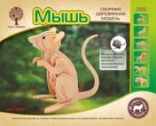 """Сборная модель """"Мышь"""", Чудо-дерево (VGA Wooden Toys)"""