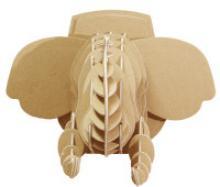 """3D конструктор """"Голова африканского слона"""", 20х23х29 см, Expetro"""