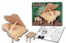 """Сборная деревянная модель """"Рояль"""", 4 листа, Рыжий кот"""