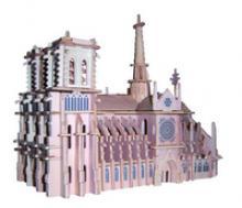 """Сборная деревянная модель """"Собор Парижской Богоматери"""", Чудо-дерево (VGA Wooden Toys)"""
