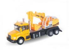 """Машинка металлическая """"Excavator Truck. С экскаватором"""", 1:48, Autotime"""