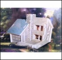 """Сборная деревянная модель """"Дом с трубой"""", Чудо-дерево (VGA Wooden Toys)"""