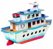 """Сборная модель из картона """"Кораблик"""", 19 деталей, Умная бумага"""