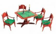 """Сборная модель из картона """"Ломберный стол с креслами"""", 38 деталей (из гостиной домика Нащокина), Умная бумага"""