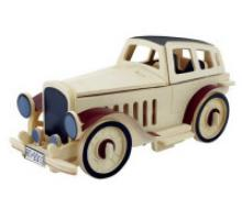 """Деревянный 3D пазл """"Классический ретро автомобиль №2"""", 43 детали, Robotime"""