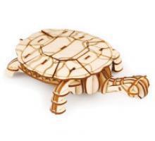 """Деревянный 3D пазл """"Черепаха"""", 63 детали, Robotime"""