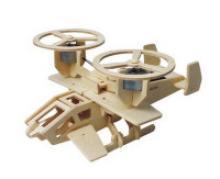 """Деревянный 3D пазл на солнечной энергии """"Кольцеплан"""", 30 деталей, Robotime"""