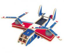 """Деревянный 3D пазл на солнечной энергии, красочное покрытие """"Вертолет-самолет Bell V-22 OSPREY"""", 20 деталей, Robotime"""