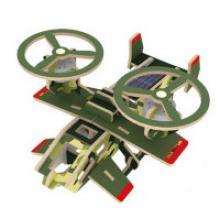 """Деревянный 3D пазл на солнечной энергии, красочное покрытие """"Кольцеплан"""", 30 деталей, Robotime"""