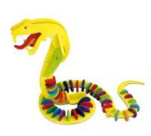 """Деревянный 3D пазл """"Змея"""" (6 красок и кисть в комплекте), 51 деталь, Robotime"""