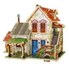 """Деревянный 3D пазл """"Французский фермерский домик"""", 44 детали, Robotime"""