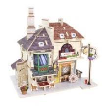 """Деревянный 3D пазл """"Британский чайный дом"""", 46 деталей, Robotime"""