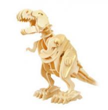 """Деревянный 3D пазл (управление звуком) """"Тиранозавр ходящий"""", 85 деталей, Robotime"""