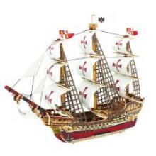 """Деревянный 3D пазл """"Корабль Санта-Мария"""", 64 детали, Robotime"""
