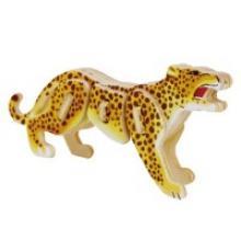 """Деревянный 3D пазл """"Леопард"""", 12 деталей, Robotime"""