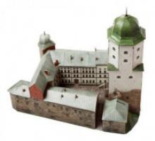 """Сборная модель из картона """"Выборгский замок"""", 79 деталей, Умная бумага"""