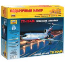 """Модель для склеивания """"Авиалайнер пассажирский Ту-154М"""", 1:144, Звезда"""