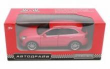 """Модель машины """"Автодрайв. Porsche Gayenne Turbo"""", масштаб 1:32, цвет матовый красный, Рыжий кот"""