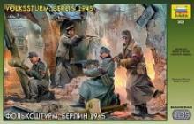 """Модель для сборки """"Фольксштурм. Берлин 1945"""", 1:35, арт. 3621, Звезда"""