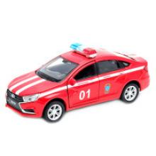 """Модель машины """"LADA Vesta. Пожарная охрана"""", Welly"""