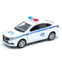 """Модель машины """"LADA Vesta. Полиция ДПС"""", Welly"""