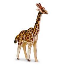 """3D пазл деревянный для детей """"Жираф"""", Геодом"""