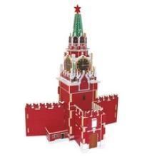 """3D пазл деревянный для детей """"Кремль. Спасская башня"""", Геодом"""