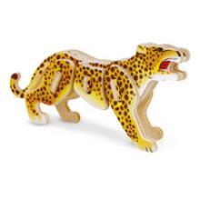 """Сборная деревянная модель 3D пазл для детей """"Леопард"""", Геодом ма02-4"""