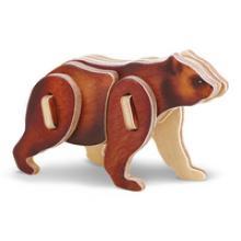 """3D пазл деревянный для детей """"Медведь"""", Геодом"""
