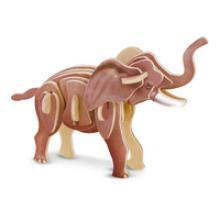 """3D пазл деревянный для детей """"Слон"""", Геодом"""
