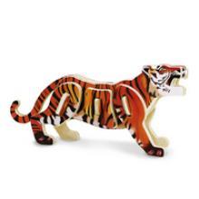 """3D пазл деревянный для детей """"Тигр"""", Геодом"""