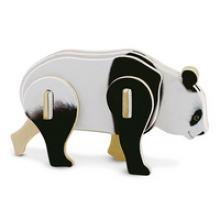 """Сборная деревянная модель 3D пазл для детей """"Панда"""", Геодом ма07"""