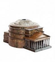 """Сборная модель из картона """"Римский Пантеон"""", масштаб 1:400, Умная бумага"""