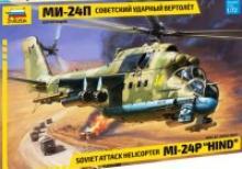 """Сборная модель. Советский ударный вертолет """"Ми-24П"""", Звезда"""
