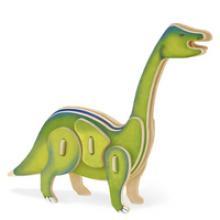 """3D пазл деревянный для детей """"Бронтозавр"""", Геодом"""