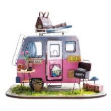 """Деревянный 3D пазл """"Дома миниатюры. Автокэмпинг"""", Robotime"""