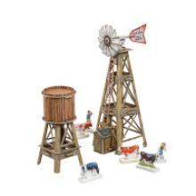 """Сборная модель из картона """"Дикий Запад. Ветряк"""", 25 элементов, Умная бумага"""
