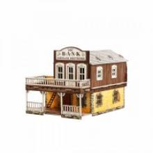 """Сборная модель из картона """"Дикий Запад. Банк"""", 62 элемента, Умная бумага 469"""