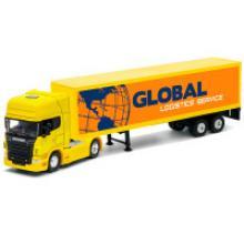 Модель тягача с прицепом Scania V8, Welly