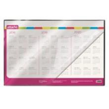 "Коврик на стол ""Attache"", 380x590 мм, календарь на 3 года, с прозрачным верхним листом, ATTACHE"
