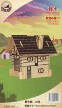 """Сборная деревянная модель """"Европейский дом"""" (коричневый), Чудо-дерево (VGA Wooden Toys)"""