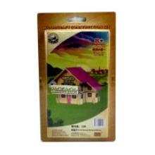 """Сборная деревянная модель """"Европейский дом"""" (розовый), Чудо-дерево (VGA Wooden Toys)"""