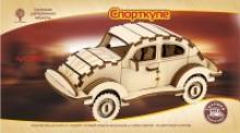 """Сборная деревянная модель """"Спорткупе"""" (мини), Чудо-дерево (VGA Wooden Toys)"""
