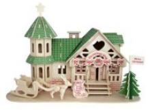 """Сборная деревянная модель """"Рождественский магазин"""", Чудо-дерево (VGA Wooden Toys)"""